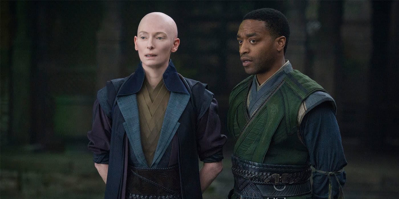 Superhero Oscars Chiwetel Ejiofor Tilda Swinton from Doctor Strange Why Dont Superhero Movies Win Oscars?