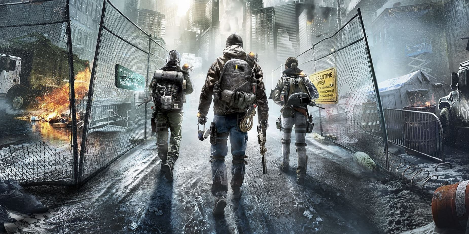 Division poster header The Division Video Game Movie Lands Gold Director Stephen Gaghan