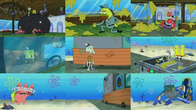 spongebob sanitation insanity